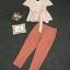 เสื้อผ้าแฟชั่นเกาหลี Lady Ribbon Thailand Korea Design By Lavida Striped printing top long pants set thumbnail 3