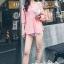 เสื้อผ้าแฟชั่นเกาหลี Lady Ribbon Thailand Seoul Secret Say'...T-Shirt Cotton Pink Peat Tie Rib Cage Chic Chic thumbnail 1