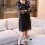เสื้อผ้าแฟชั่นเกาหลี Lady Ribbon Thailand Korea Design By Lavida Blossom printing long sleeve dress thumbnail 5