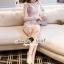 Seoul Secret Say's... Pastel Pink Droplet Lace Dress thumbnail 3