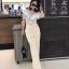 เสื้อผ้าแฟชั่นเกาหลี Lady Ribbon Thailand Normal Ally Present Boutique and classy playsuit thumbnail 1