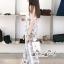เสื้อผ้าแฟชั่นเกาหลี Lady Ribbon Thailand Seoul Secret Say's...Sweet Pastel Flower Pattern Set thumbnail 2