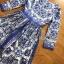เสื้อผ้าแฟชั่นเกาหลี Lady Ribbon Thailand Lady Ribbon's Made Lady Yves Italian Dream Blue & White Printed Maxi Dress thumbnail 5