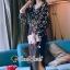 เสื้อผ้าแฟชั่นเกาหลี Seoul Secret Say's... Chiffon Two Tone Flora Bell Blouse thumbnail 1