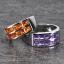 แหวนคู่รักสลักชื่อ ฝังพลอยแท้ ตัวเรือนทองคำขาวแท้ สามารถเลือกพลอยได้ thumbnail 3