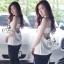 เสื้อผ้าแฟชั่นเกาหลี Sevy Sexy Back Strapless Top thumbnail 1