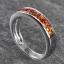 แหวนสลักชื่อ ฝังพลอยบุษราคัมแท้ ตัวเรือนทองคำขาวแท้ สามารถเลือกพลอยได้ thumbnail 3