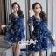 เสื้อผ้าแฟชั่นเกาหลี Lady Ribbon Thailand Seoul Secret Say'...Korea Style Minidress Tulle Department&Cream Embroidery Fancy thumbnail 7