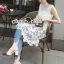 Seoul Secret Say's... Pealy Through Lace Sweet Long Blouse thumbnail 2