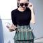 เสื้อผ้าแฟชั่นเกาหลี Seoul Secret Say's... Chic Line Swiiffy Pleat Tail Set thumbnail 4