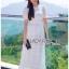 เสื้อผ้าแฟชั่นเกาหลี Lady Ribbon Thailand Lady Ribbon's Made Lady Camilla Vintage Style Embroidered and Laser-Cut White Cotton Dress thumbnail 1