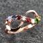 แหวนนพเก้า Infinity แหวนพลอยแท้ เพชรแท้ ตัวเรือนพิ๊งค์โกลด์ thumbnail 4
