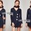เสื้อผ้าแฟชั่นเกาหลี Lady Ribbon's Made Jenine Modern Masculine Chic Button Down Black Silk playsuit thumbnail 1
