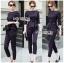 เสื้อผ้าแฟชั่นเกาหลี Lady Ribbon's Made Lady Anne Smart Casual Striped Crepe Ensemble Set thumbnail 2