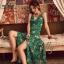 เสื้อผ้าแฟชั่นเกาหลี Lady Ribbon Thailand Normal Ally Present Summer print dress thumbnail 2