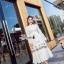 เสื้อผ้าแฟชั่นเกาหลี Lady Ribbon Thailand Korea Design By Lavida Ivory floral embroidery maxi dress code3002 thumbnail 1