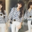 Seoul Secret Say's... Navy Daisy Perforate Blouse thumbnail 7