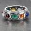 แหวนพลอยนพเก้าแท้รอบวง แหวนเงินแท้ 925 ชุบทองคำขาว thumbnail 4