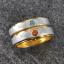 แหวนคู่รักสลักชือ ฝังพลอยแท้ แหวนเงินแท้ 925 ชุบ2กษัตริย์ สามารถเลือกพลอยได้ thumbnail 2