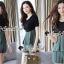 เสื้อผ้าแฟชั่นเกาหลี Seoul Secret Say's... Chic Line Swiiffy Pleat Tail Set thumbnail 1