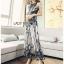 เสื้อผ้าแฟชั่นเกาหลี Lady Ribbon Thailand Lady Ribbon's Made Lady Emilia See-Through Printed Black Jumpsuit thumbnail 1