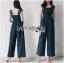 เสื้อผ้าแฟชั่นเกาหลี Lady Ribbon Thailand Lady Ribbon's Made Lady Veronica Feminine Chic Lace & Crepe Jumpsuit thumbnail 2
