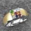 แหวนนพเก้า ทองคำขาว เพชรแท้ พลอยแท้ ชุบ2กษัตริย์ thumbnail 2