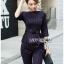 เสื้อผ้าแฟชั่นเกาหลี Lady Ribbon's Made Lady Anne Smart Casual Striped Crepe Ensemble Set thumbnail 5