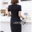 เสื้อผ้าแฟชั่นเกาหลี Lady Ribbon Thailand 's Made Lady Taylor Minimal Chic Striped Dress thumbnail 3