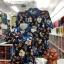 เสื้อโปโลลายดอก ใบฟ้าแบบ2 เนื้อผ้า COTTON100% เหลือ ชาย XXL thumbnail 1