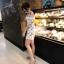 เสื้อผ้าแฟชั่นเกาหลี Lady Ribbon Thailand Normal Ally Present Embroider japan flower playsuit thumbnail 2