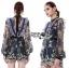 เสื้อผ้าแฟชั่นเกาหลี Lady Ribbon's Made Three Floor Orchid Playsuit thumbnail 4