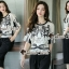 เสื้อผ้าแฟชั่นเกาหลี Seoul Secret Say's... Hermes Bridge & Gala Print Set thumbnail 4