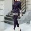 เสื้อผ้าแฟชั่นเกาหลี Lady Ribbon's Made Lady Anne Smart Casual Striped Crepe Ensemble Set thumbnail 6