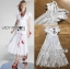 เสื้อผ้าแฟชั่นเกาหลี Lady Ribbon Thailand Lady Ribbon's Made Lady Hannah Flower Laser-Cut and Embroidered Ruffle Cotton Long Dress thumbnail 4