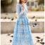 เสื้อผ้าแฟชั่นเกาหลี Lady Ribbon Thailand Lady Ribbon's Made Lady Eva Modern Feminine Lace Midi Dress thumbnail 1