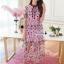 เสื้อผ้าแฟชั่นเกาหลี Lady Ribbon Thailand Korea Design By Lavida Arty vintage embroidery ribbon neck dress thumbnail 1