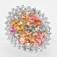 แหวนพลอยแท้ แหวนเงินแท้925 พลอยแซฟไฟร์แท้ สีสันสดใส ล้อมด้วยเพชร cz thumbnail 1