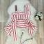 เสื้อผ้าแฟชั่นเกาหลี Lady Ribbon Thailand Normal Ally Present Topshop striped style summer collection thumbnail 4