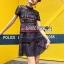 เสื้อผ้าแฟชั่นเกาหลี Lady Ribbon's Made Lady Poppy Vivid Blue and Burgundy Lace Dress thumbnail 8