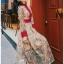 เสื้อผ้าแฟชั่นเกาหลี Lady Ribbon Thailand Lady Fancy Colourful Lace Maxi Dress thumbnail 2