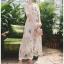 เสื้อผ้าแฟชั่นเกาหลี Lady Ribbon Thailand Lady Marie Fancy Flower Blossom Lace Maxi Dress thumbnail 1