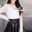 Seoul Secret Say's... Ivory Daisy Lace Blouse thumbnail 5