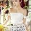 Seoul Secret Say's... Smoking Daisy Bowy Open Shoulder Blouse thumbnail 9