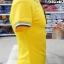 เสื้อโปโลสำเร็จรูป สีเหลือง ขลิบปกน้ำเงินเข้ม thumbnail 4