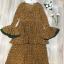 เสื้อผ้าแฟชั่นเกาหลี Lady Ribbon Thailand Normal Ally Present Flower print and boutique pleated dress thumbnail 4