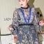 เสื้อผ้าแฟชั่นเกาหลี Lady Ribbon's Made Three Floor Orchid Playsuit thumbnail 5