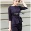เสื้อผ้าแฟชั่นเกาหลี Lady Ribbon's Made Lady Anne Smart Casual Striped Crepe Ensemble Set thumbnail 7