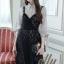 เสื้อผ้าแฟชั่นเกาหลี Lady Ribbon Thailand Normal Ally Dress shirt and lace and pearl dress set thumbnail 2