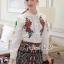 Seoul Secret Say's... Summer Rosy Blossom Furnished Shirt thumbnail 2